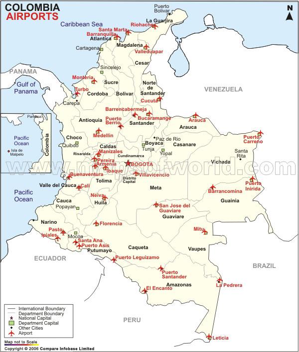 vliegvelden van colombia