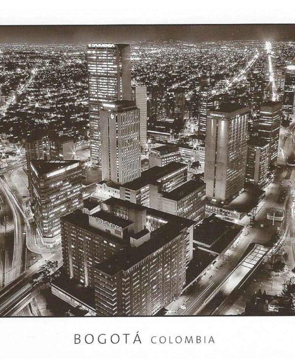 Ansichkaart Bogotá by night