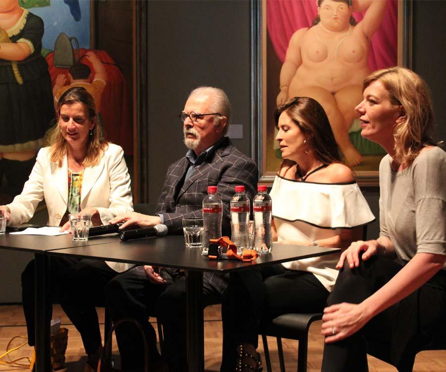 Officiële persconferentie en interview Botero