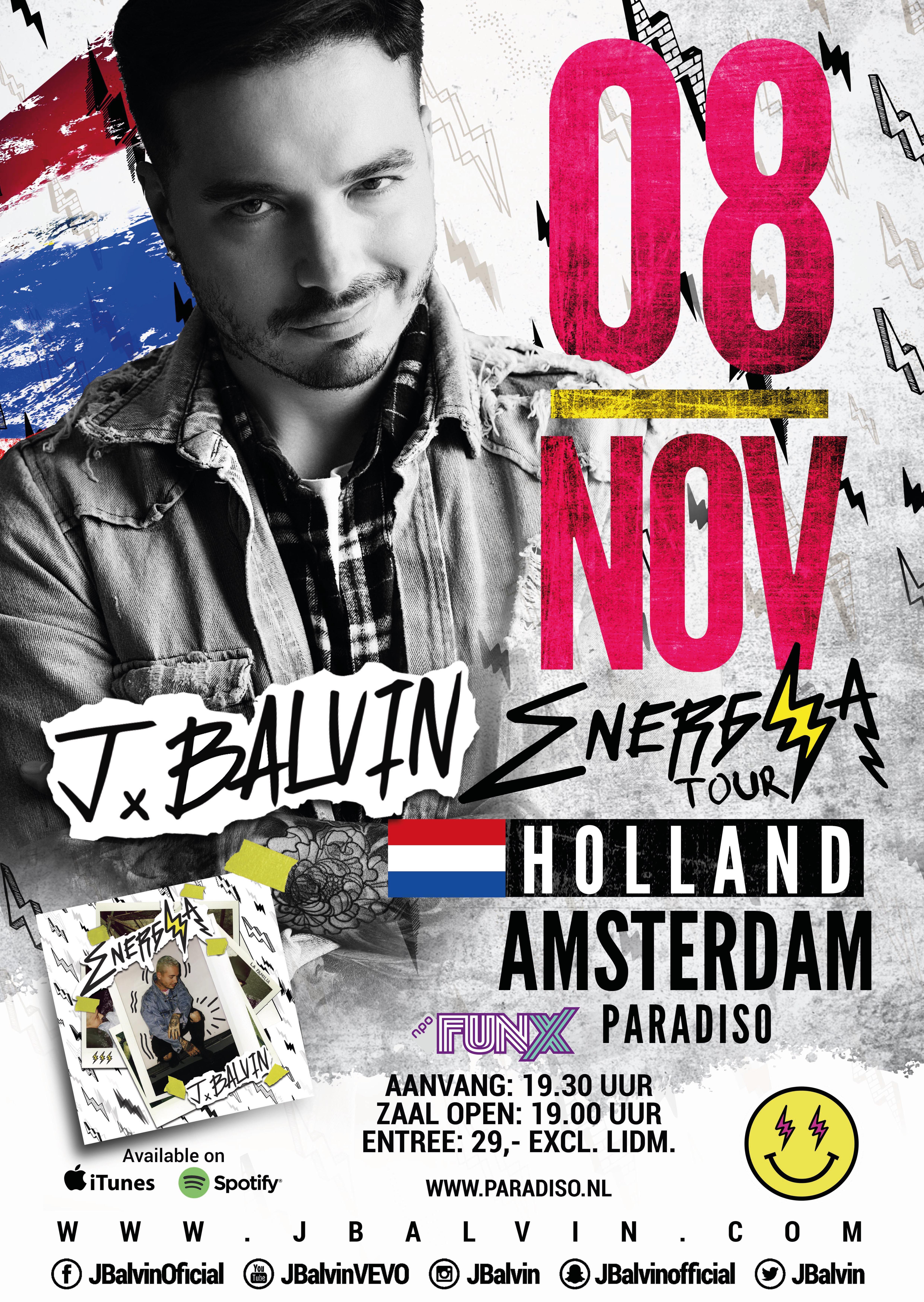 J. Balvin naar Nederland