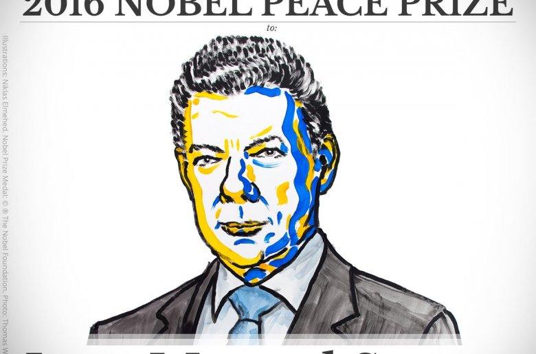 Colombiaanse president Santos schenkt geld Nobelprijs aan slachtoffers