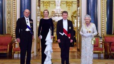 Santos arriveert in Engeland voor staatsbezoek