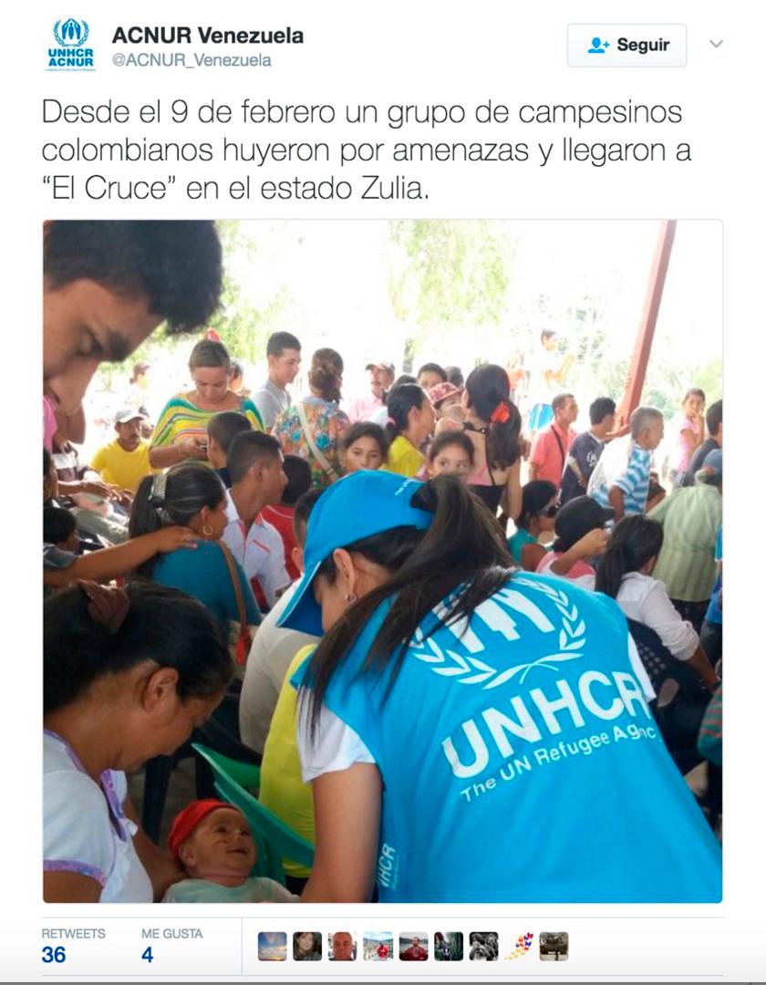 VN bevestigd: 200 Colombianen vluchten naar buurland