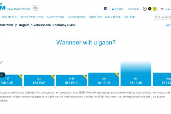 Vijf Dagen Voordeel KLM: AMS – BOG 556,-