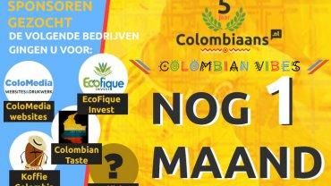 Nog 1 maand te gaan voor Colombian Vibes