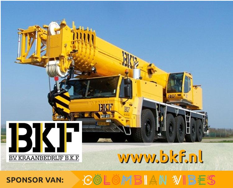 B.V. Kraanbedrijf BKF sponsort Colombian Vibes