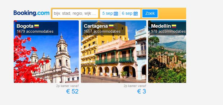 Goedkope tickets naar Colombia