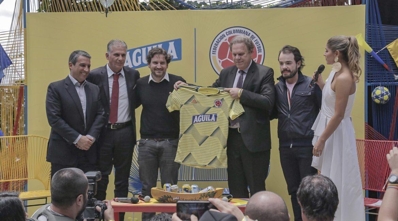 Het Colombiaanse biermerk Aguila langer sponsor van Colombia