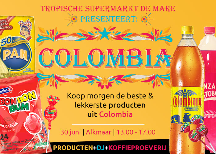 Tropische supermarkt de mare