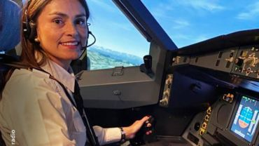 Camila Basto is jongste pilote van Colombia