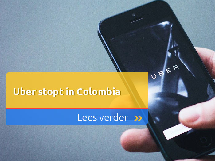 Uber stop in Colombia