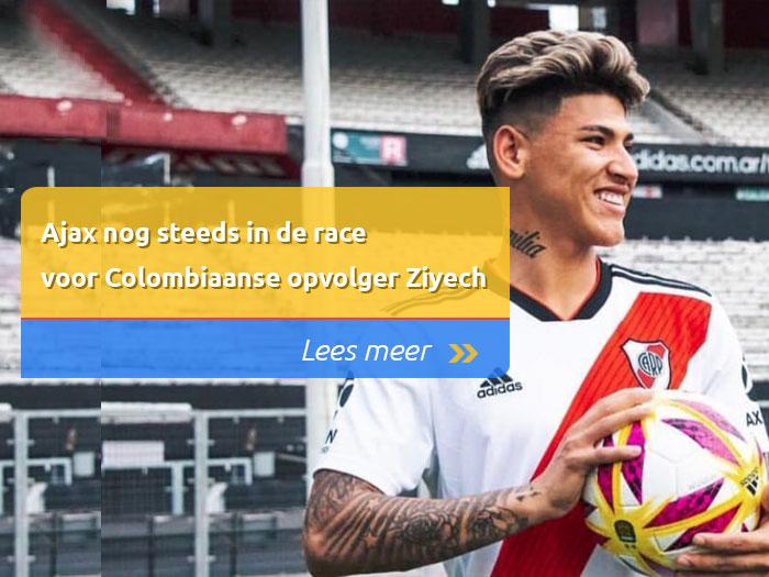 Ajax nog steeds in de race voor Colombiaanse opvolger Ziyech