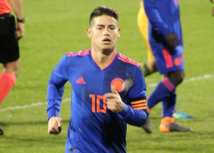 Colombia-captain James naar Everton